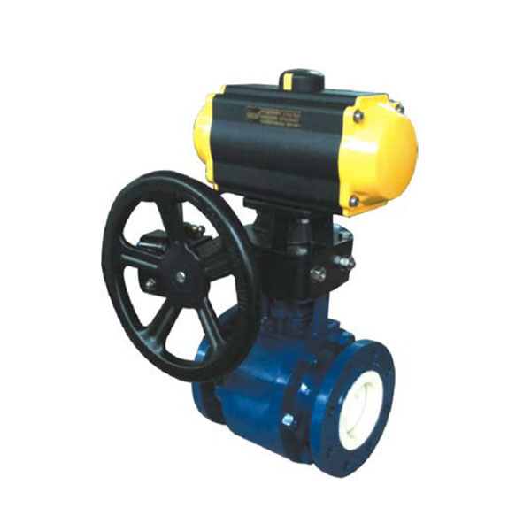 Q641tc pneumatic with manual ceramic ball valve