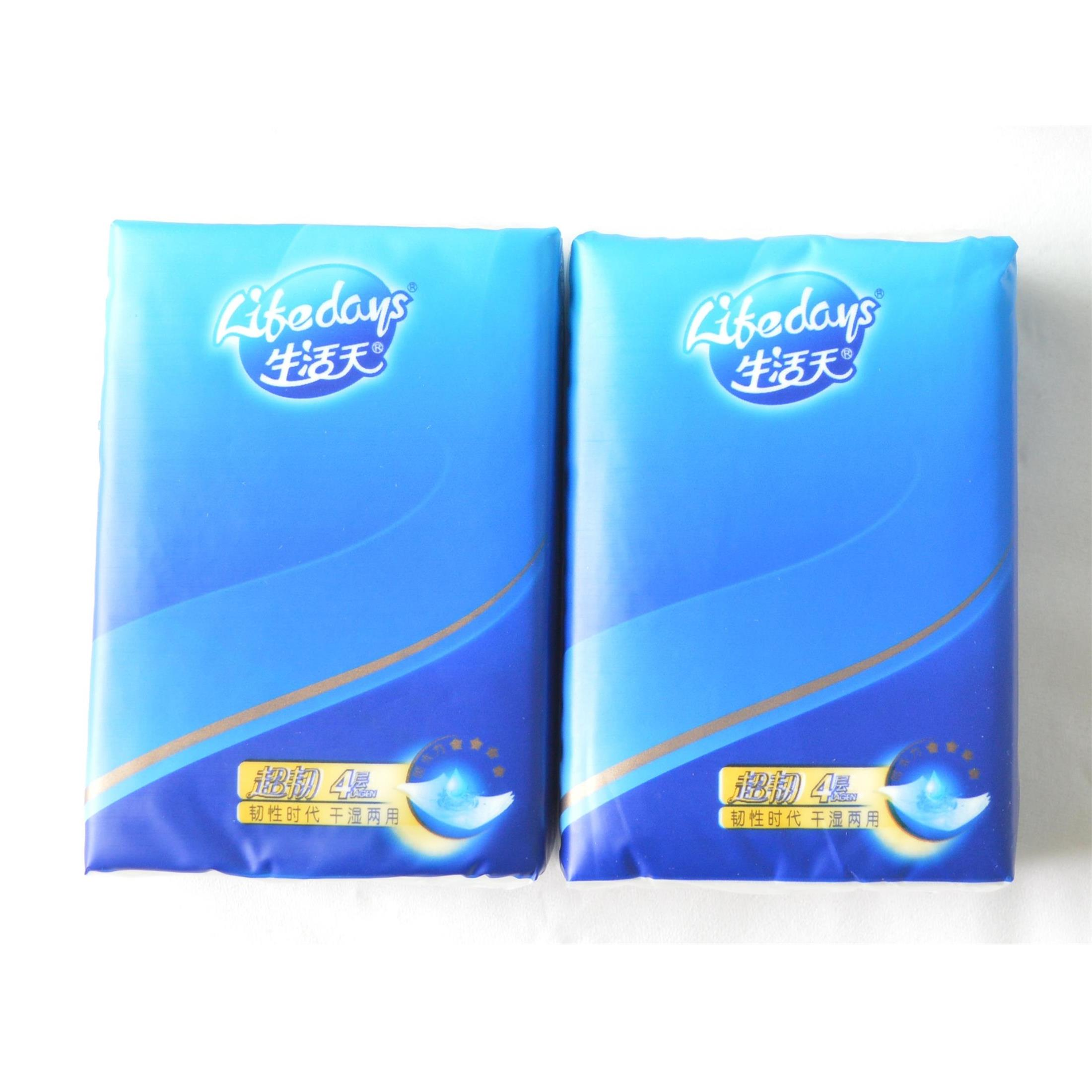 生活天BT305四層8張迷你干濕兩用紙手帕(10包)