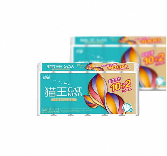 亲柔平纹1000克长12卷(MQR14)