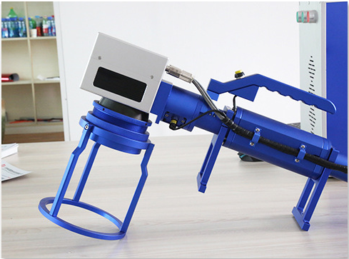 Hand-held laser marking machine