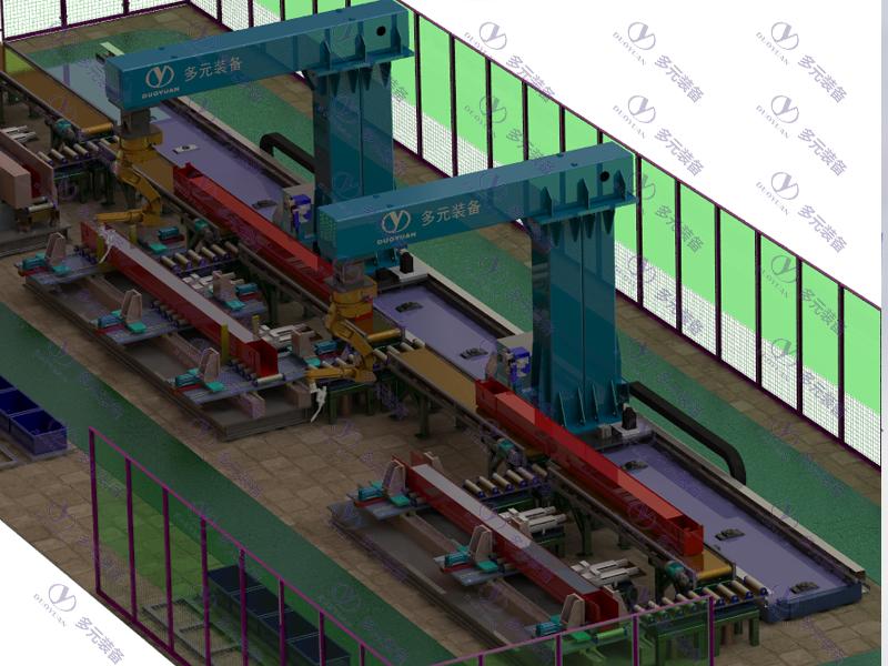 礦山起重行業:端梁焊接工作站