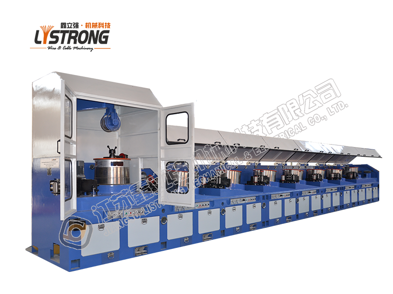 Straight line steel wire drawing machine