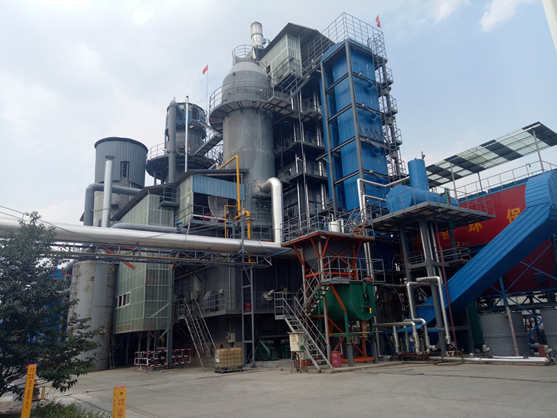 Equipped with 6t/h industrial three waste treatment incineration boiler installation site