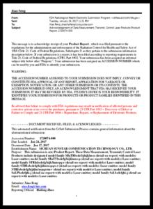 OSA: FDA letter