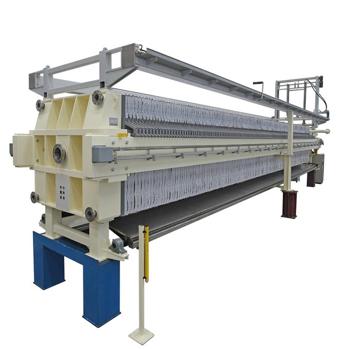 1500mmx1500mm fully- automatic filter press with bombay doors/drip tray and cloth washing system