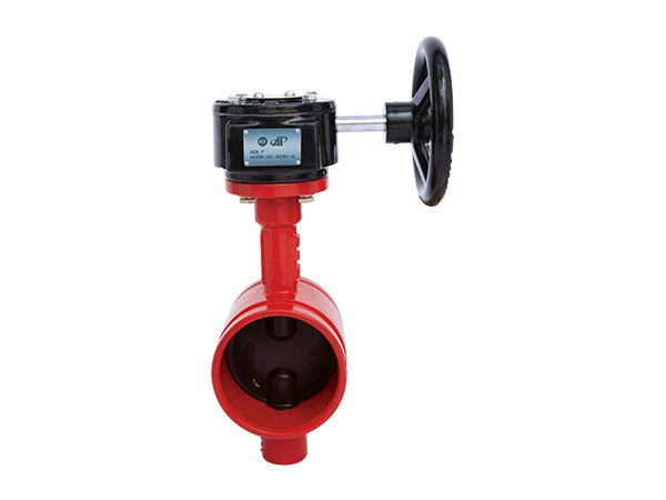300PSI Grooved Butterfly Valve with Gearbox