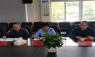 姜晓先一行赴温岭瀚洋庄博亚洲网站检查指导工作