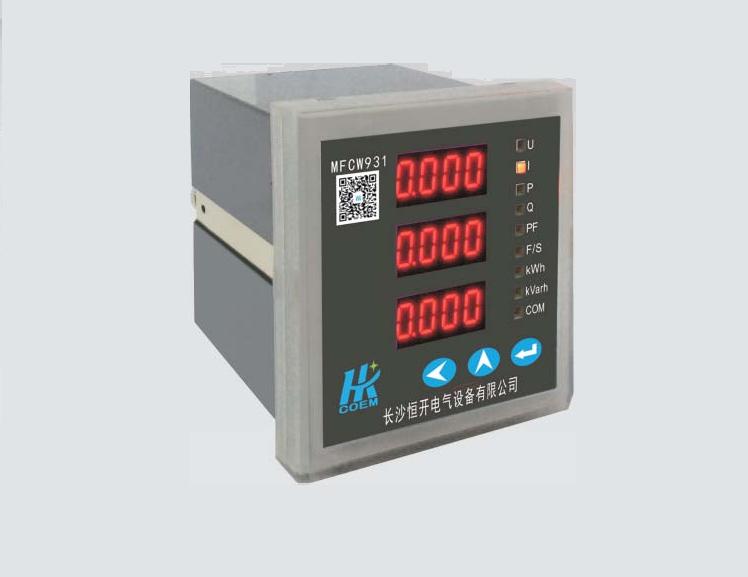 MFCW931系列三相多功能网络仪表型号列表