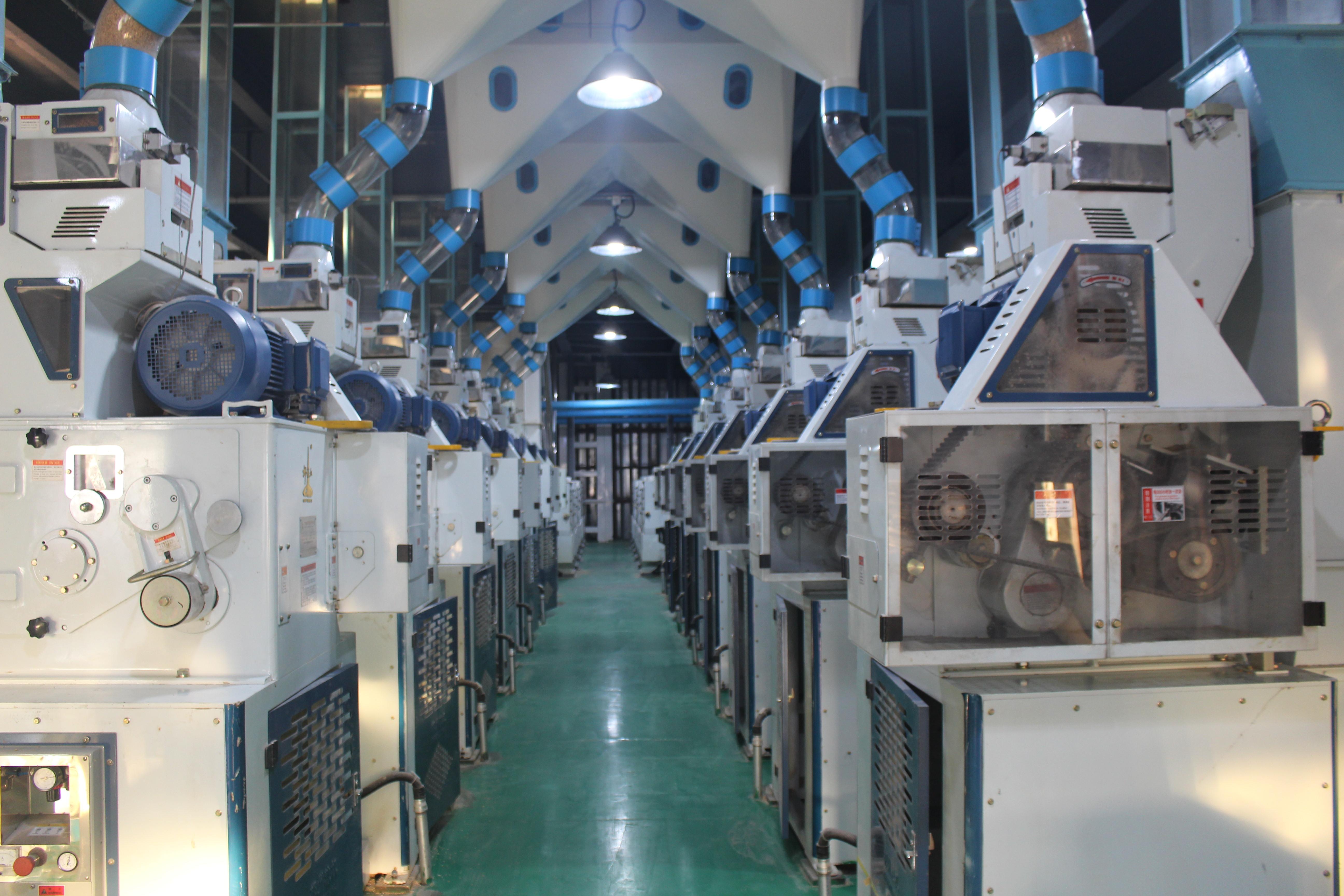 我公司承建的全球最大米廠之一:黑龍江春華秋實公司日處理稻谷3000噸碾米工程