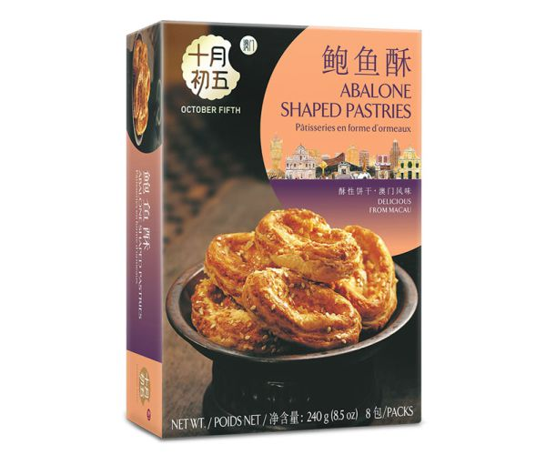 240gX24boxes  Abalone Shaped Pastries