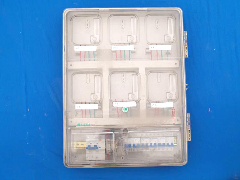 透明PC上下結構電子6戶電表箱