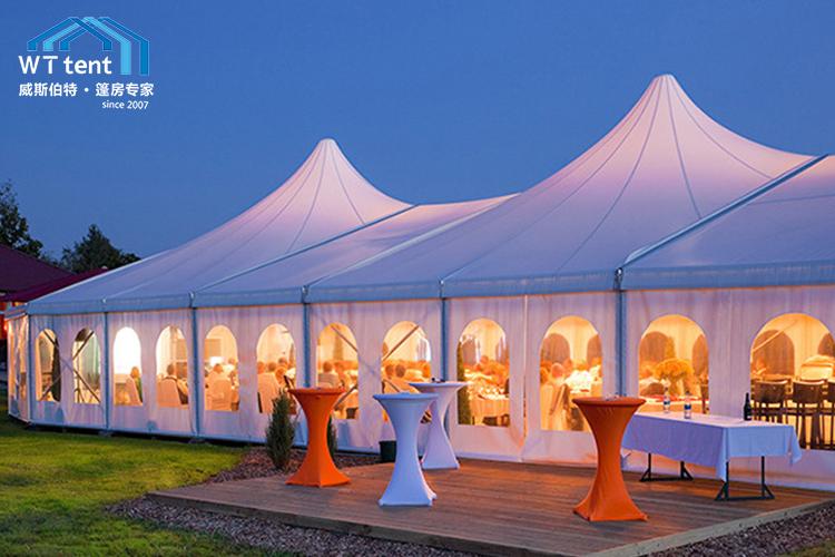 苏州威斯伯特尖顶锥形篷餐厅帐篷定制帐篷帐篷厂家