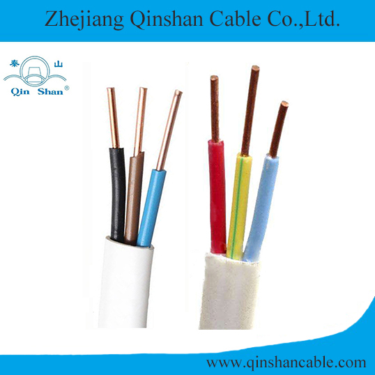 3C Solid Copper Conductor PVC Insulated and Sheathed Flat Electric Cable