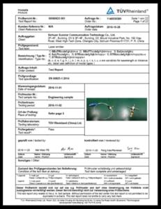 OSA: IEC/EN 60825-1