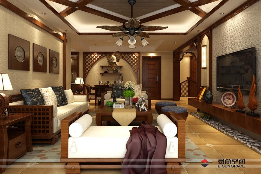 人才公寓180平方--東南亞風格