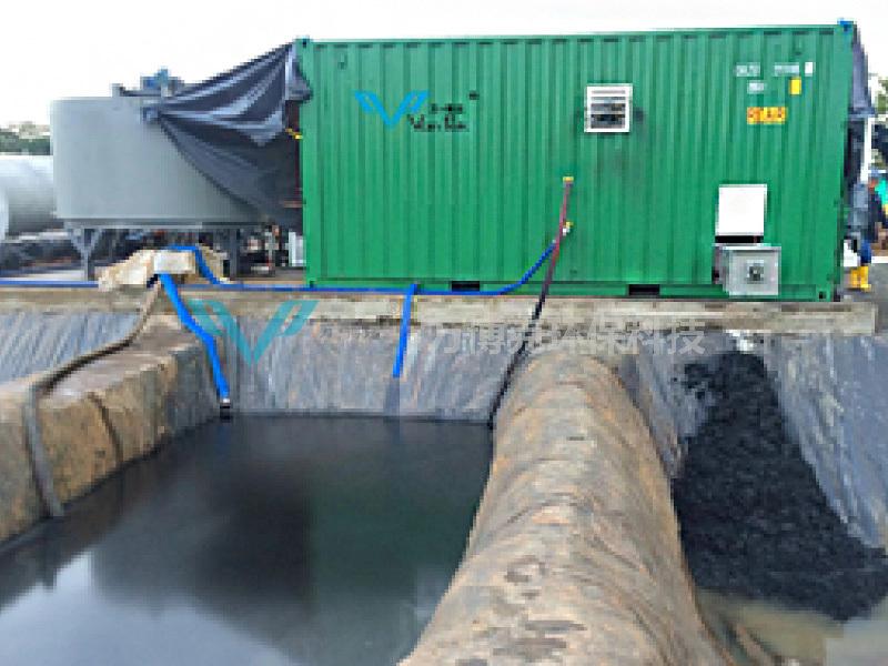 2016年2月,機械清洗油罐中的油水分離系統