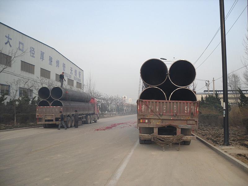 大口徑厚壁鋼管發貨