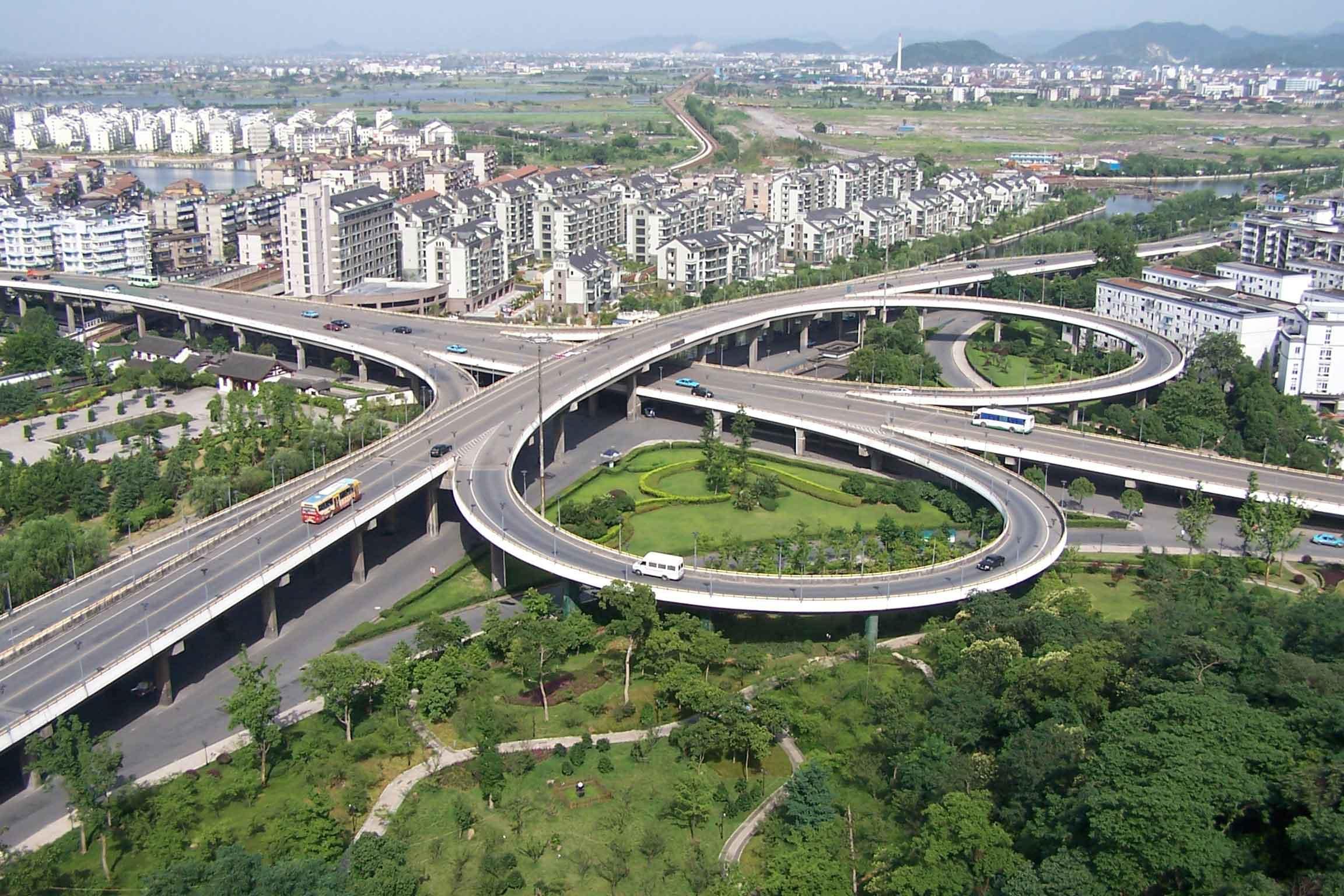 绍兴市昌安立交桥