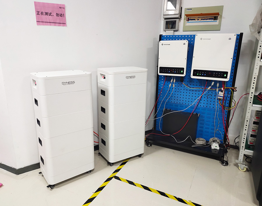 Tower T14 high voltage energy storage system installed in China laboratory