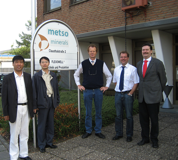 The company inspected and exchanged technology with Metso