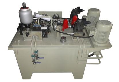液压站(单箱、双机电、双油泵、单控制阀组)